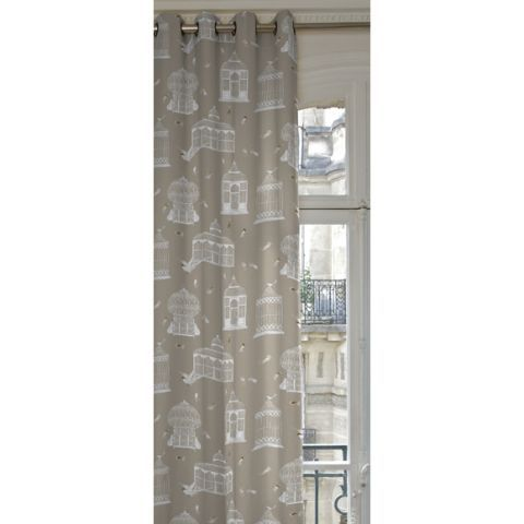 Bagatelle Eyelet Curtain in Ficelle W 135 x H 270 cm - Casafina