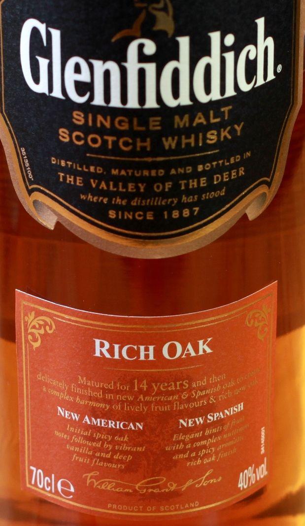 Glenfiddich 14yo Rich Oak 40%