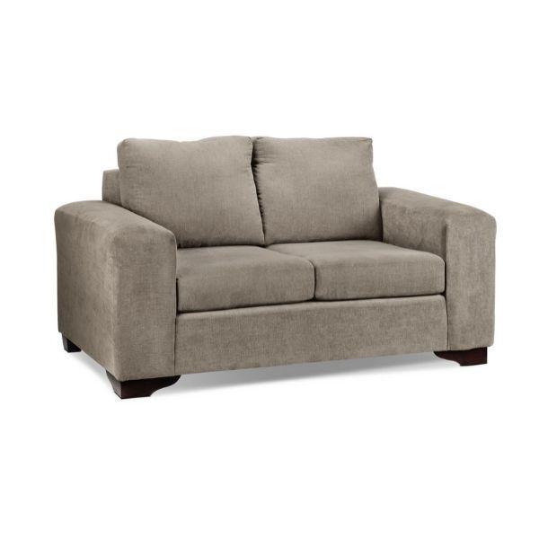 Fava Loveseat Pewter Love Seat Seat Foam Toss Pillows
