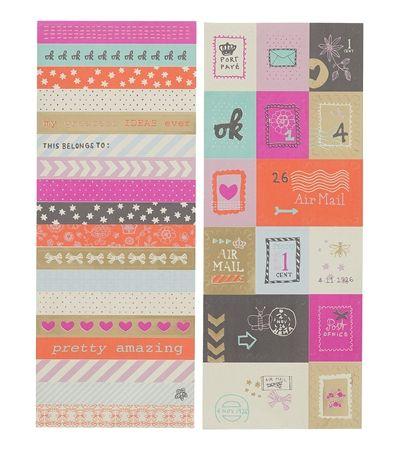 HEMA stationery - Set van 2 stickervellen met stempel stickers.