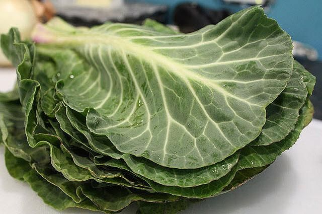 Collard Greens  Another nutrient-dense stalwart in the green leafy veggie family, eating collard greens is like taking a potent multivitamin: They're packed with vitamins A, B, C, E, and K, as well as Folate. Try them as wraps for your favorite sandwiches