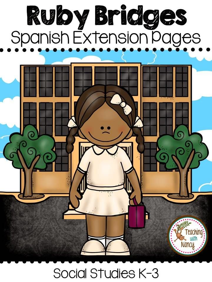 Ruby Bridges in Spanish K-3 celebrate black history month