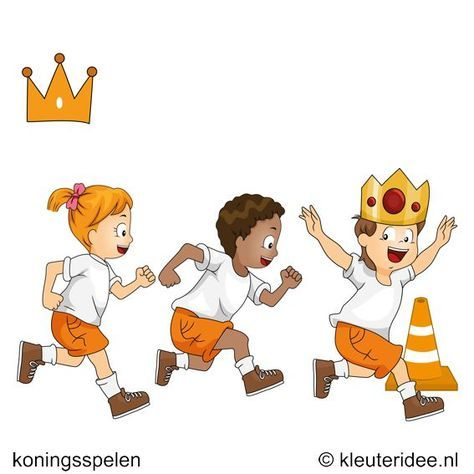 Wie is de koning, koningsspelen voor kleuters,kleuteridee