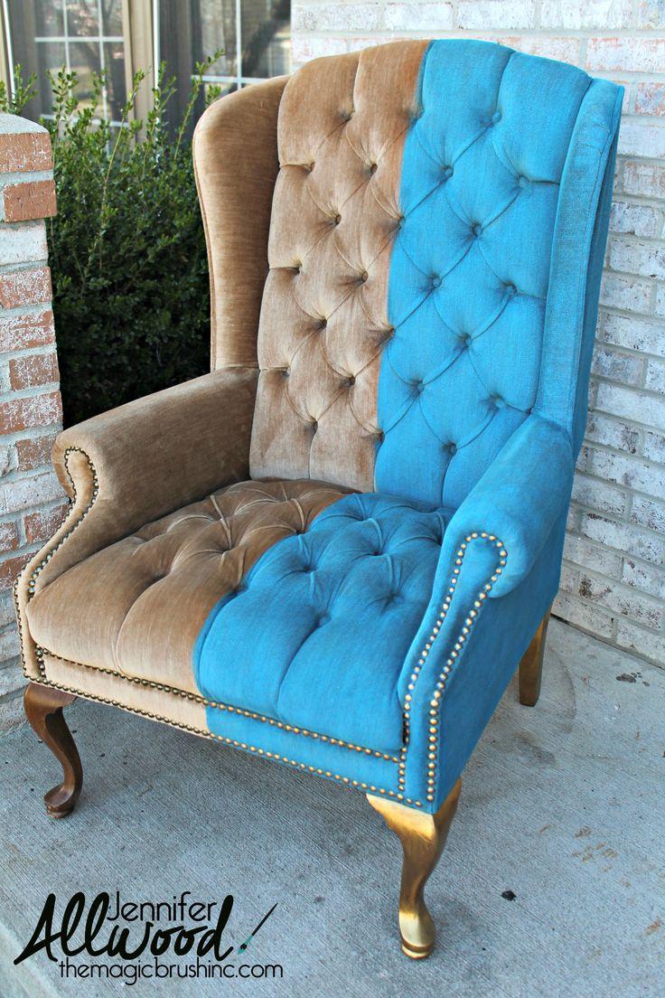 Wonderful Paint Velvet Fabric   A Chair Makeover