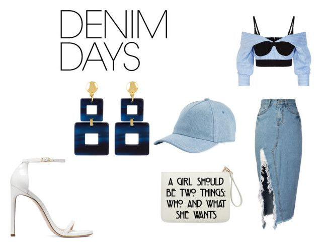 """denim love"" by goitsemooketsi on Polyvore featuring storets, Alexander Wang, Stuart Weitzman, rag & bone, Henri Bendel and denimskirts"