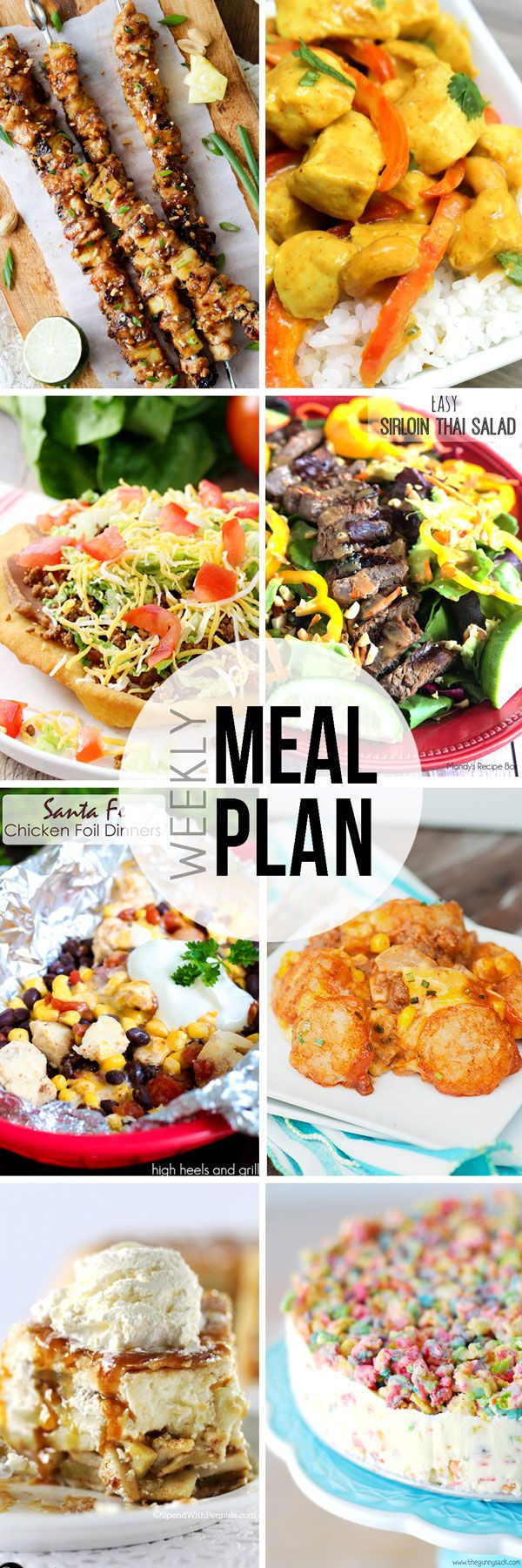 Easy Meal Plan Sunday {Week 6} a weekly collaborative meal plan brought to you by 8 of your favorite bloggers.