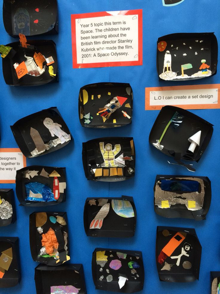 Year 5 amazing set design response to watching a clip from 2001: A Space Odyssey