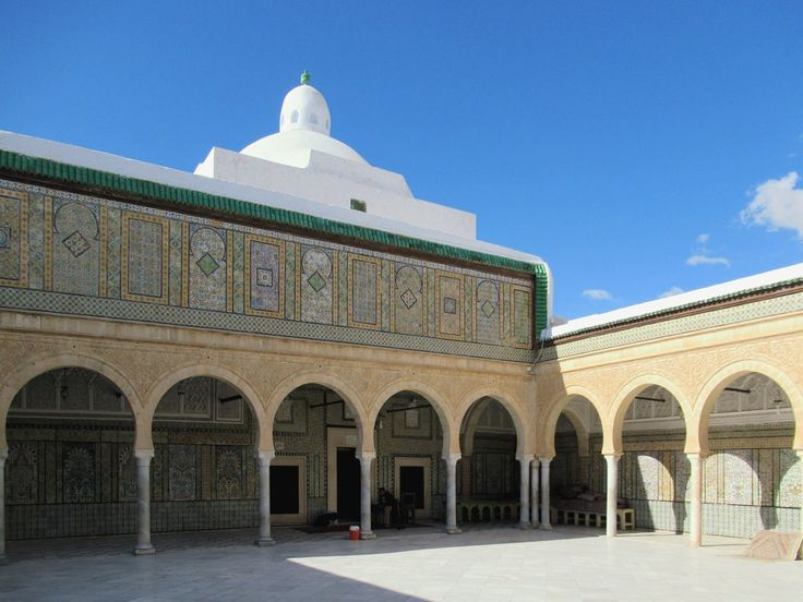 The 17th century Zaouia of Sidi Sabhi or Mosquée du Barbier in Kairouan, Tunisia, is the mausoleum of an early Islamic martyr.