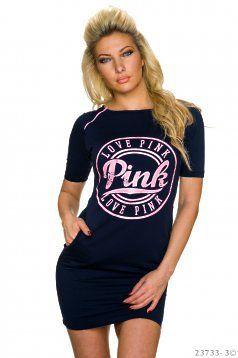 Rochie Love Pink DarkBlue