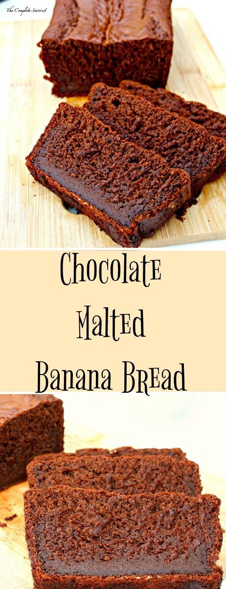 Chocolate Malted Banana Bread – Deep, rich chocolate flavor in this classic banana bread with a hint of malt for that retro flavor ~ The Complete Savorist