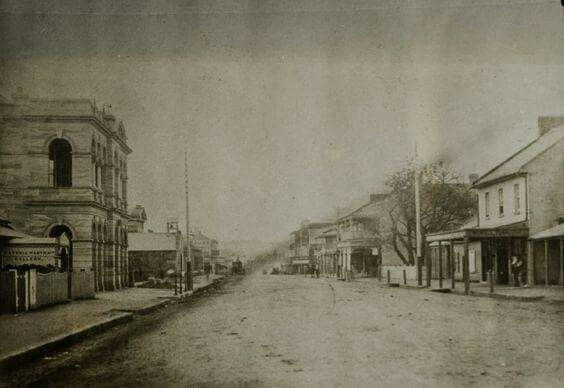 Church St,Parramatta in the late 1800s,taken from MacQuarie St.   •Parramatta Heritage Centre•