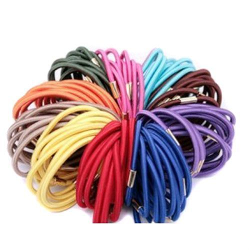 3Mm Assorted Color Elastic Ponytail Holders Hair Accessories Wholesale Lots Ties