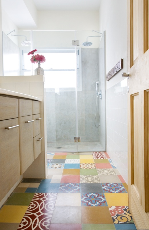 Cement Tile Mix For Kids Bathroom. Noga Tiles. Shower Floor Probably Will  Not Be