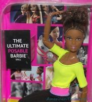 NEW 2015 Barbie Made To Move Ultimate Posable African American Doll 22 Joints