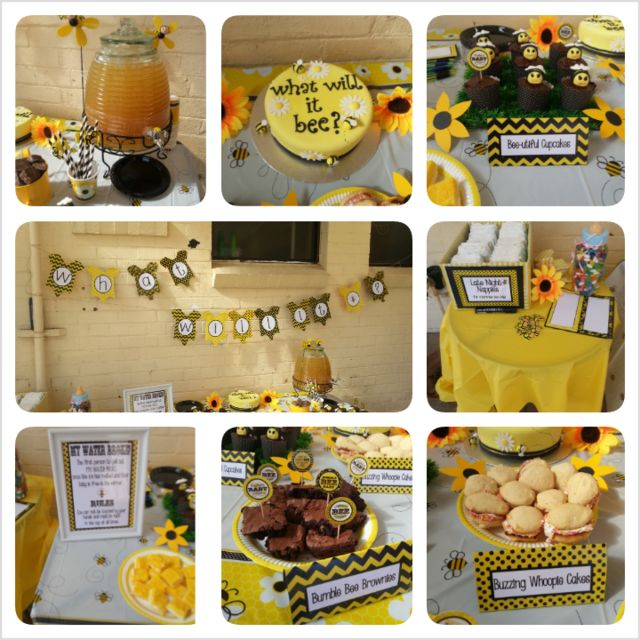 Bumble Bee Baby Shower #babyshower #bumblebee