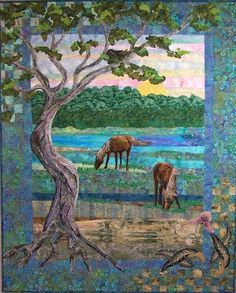 Art Quilts Landscapes | Landscape quilt by Spirit Sister | quilt ...