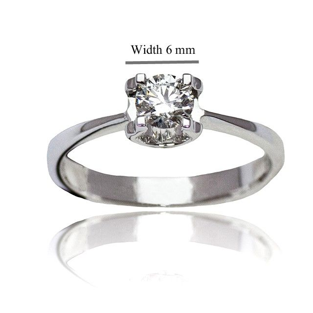 Valentine's Day Gift Idea - Premium Solitaire Ring Made With SWAROVSKI Zirconia in 18K White Gold Plated 925 Sterling Silver #kelvingems #valentine2015 (Free Shipping Nationwide + Free Valentine's Gift Packaging + 1 Year Manufacturer Warranty for SWAROVSKI Zirconia + Free Polishing Service + 7 Days Exchange Period)