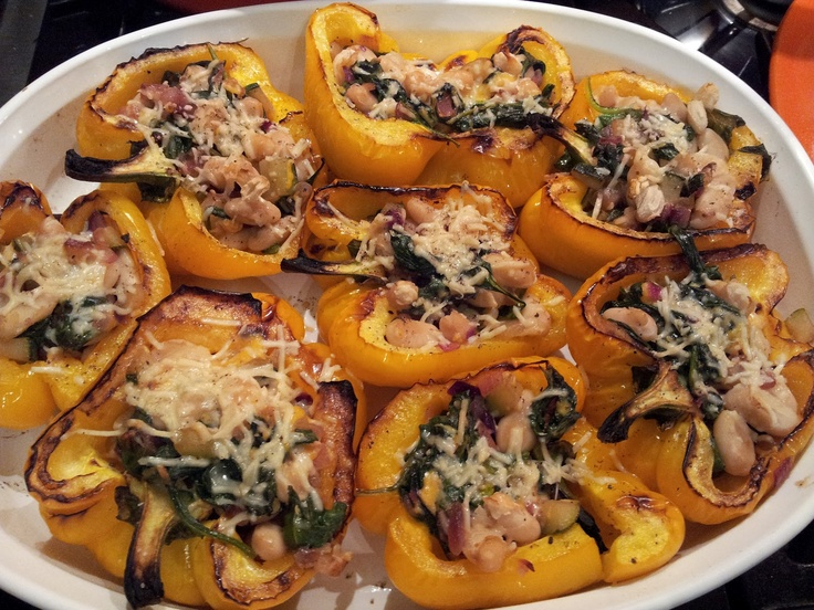 Cheesy Stuffed Peppers with White Beans: Food Recipes, Yummy Recipes, Yummy Food, Beans, Cheesy Stuffed, Healthy Food, Recipes Side Dishes, Favorite Recipes, Favorite Food