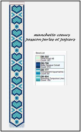 Manchette coeurs - Passion Perles et Papiers