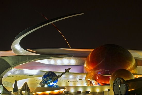 Mission: SPACE at Epcot by Disney photographer Matt Stroshane, perfectly captures the SpaceX Falcon 9 rocket launching from Cape Canaveral. Incredible, right?