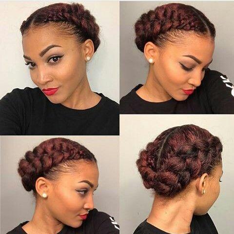 Natural hair, Cornrows, Bun,  Kinky