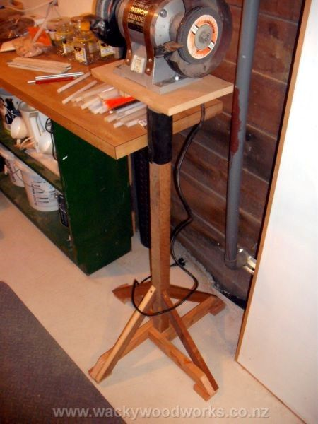 Grinder Stand http://www.wackywoodworks.co.nz/workbench3.php