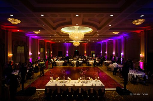 North Carolina Dramatic Purple Indian Wedding Reception - 3 - Indian Wedding Site Home - Indian Wedding Site - Indian Wedding Vendors, Clothes, Invitations, and Pictures.