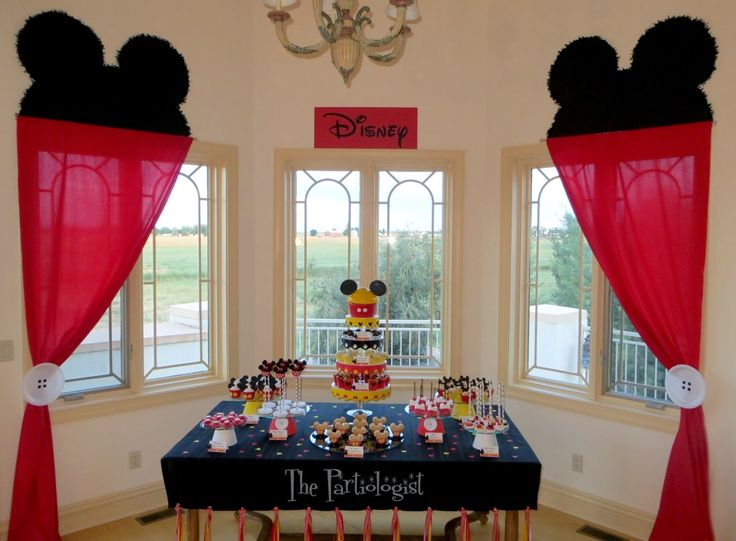 The Partiologist - love the curtains and the button plates. Might do this around the cake background!!!!