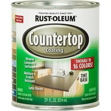 Rust-Oleum Specialty 1 qt. Countertop Tintbase Kit, Off White - Tintable For kitchen desk counter, black to match granite in rest of kitchen