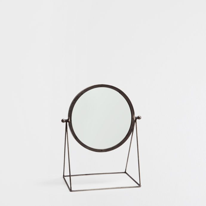 MIRROR WITH A BLACK METALLIC STAND - Mirrors - Decoration | Zara Home United States of America