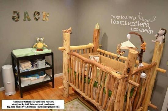 Baby room themes outdoorsy colorado wilderness outdoors for Cabin themed nursery