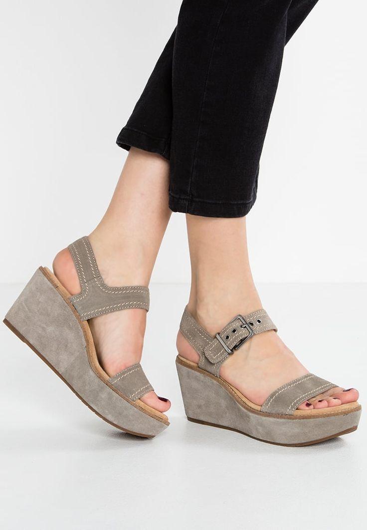 Clarks AISLEY ORCHID - Sandaletter med kilklack - sage
