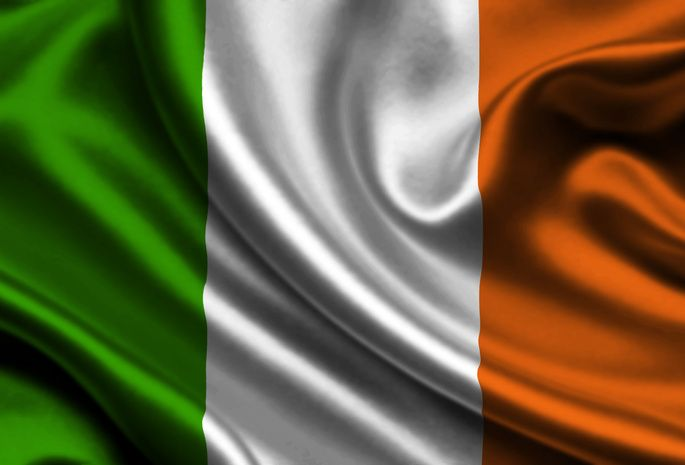 Ireland, Satin, Flag