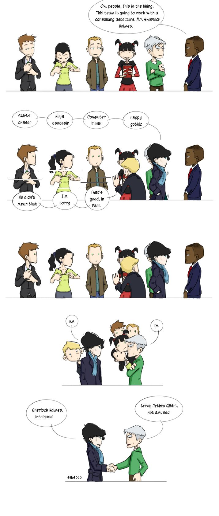 NCIS meets Sherlock ~The nerdgasm I just had was epic.~ Gibbs is not amused lol