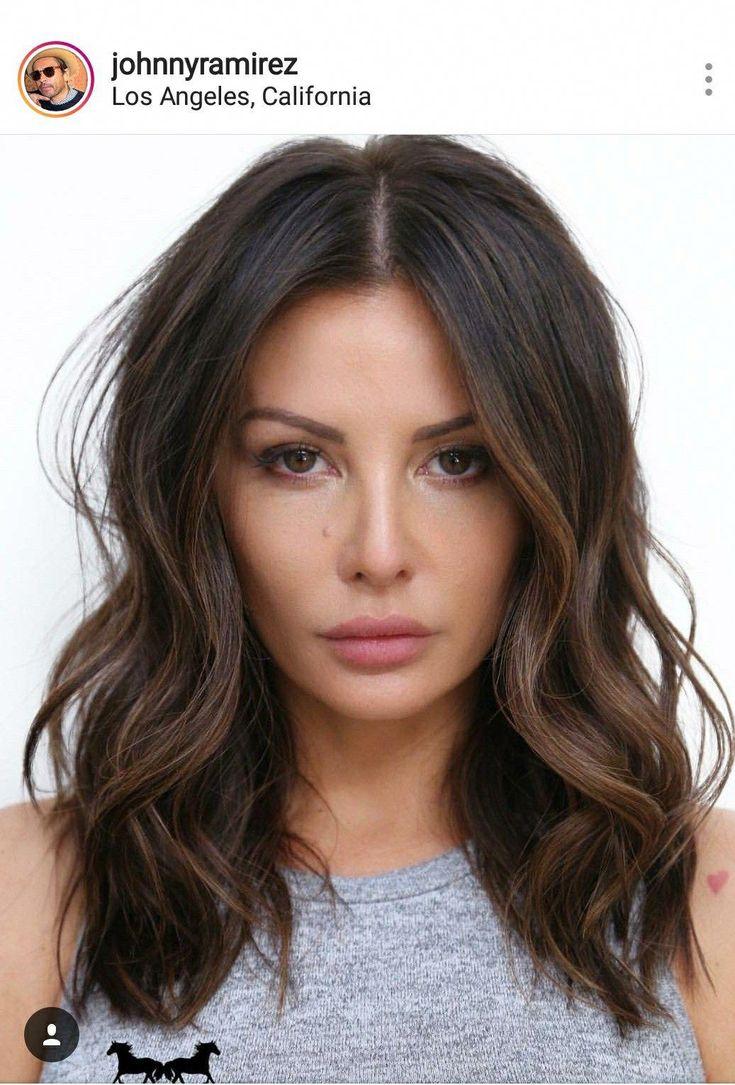 Ramirez brunette lob #brunettehairstyles