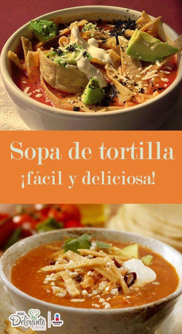 """Se cree que lareceta de la sopa de tortilla, también conocida como sopa azteca,nació en Tlaxcala, """"lugar donde abundan las tortillas"""" o """"tierra de maíz"""". La mayoría de susingredientes provienende la cocina prehispánica y supreparación está inspirada en la costumbre española de cocinar caldos.Sorprende a tu familia con esta receta mexicana.Preparación1. Asa la mitad de un chile guajillo y remójalo en agua muy caliente."""