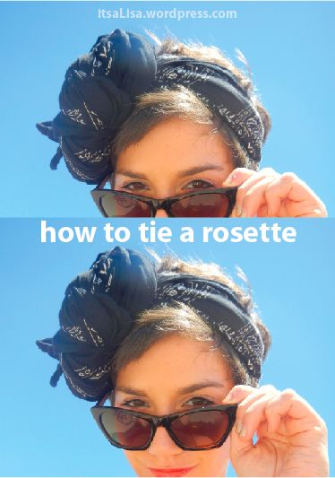 How to tie a rosette headband with a scarf #DIY