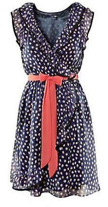 www.delisiyim.comRed Belts, Summer Collection, Summer Dresses, Fashion, Style, Clothing, Cute Dresses, Chiffon Dresses, Blue Polka Dots