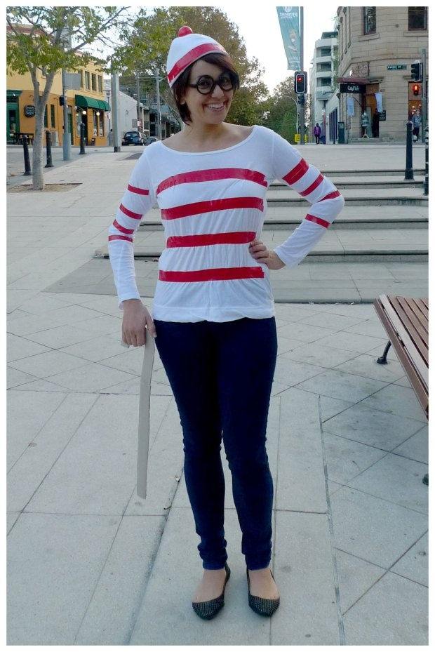 Day 314: Where's Wally costume. Theme Me is a blog that follows a personal challenge to dress to a different theme every day for a whole year.