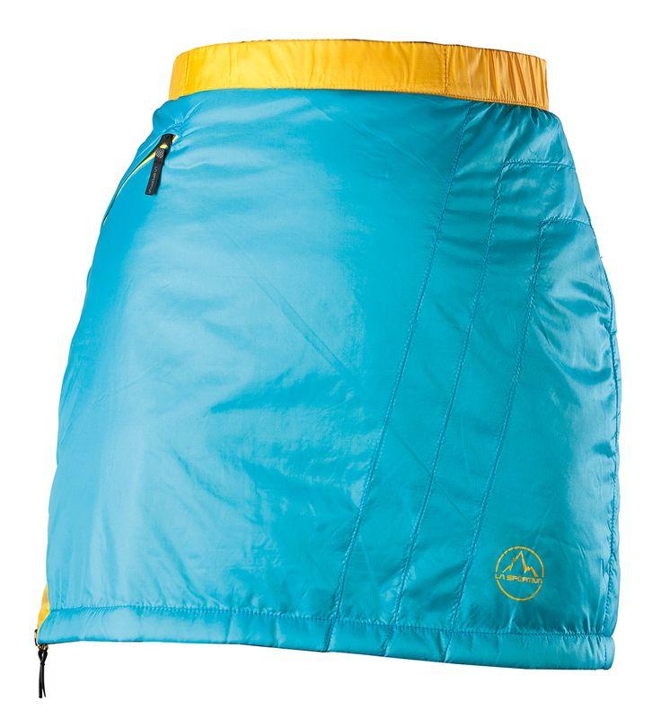 -- Athena Primaloft Skirt Malibu Blue -- The Athena Primaloft Skirt uses Primaloft Sport® 25g the most lightweight padding offered by Primaloft.