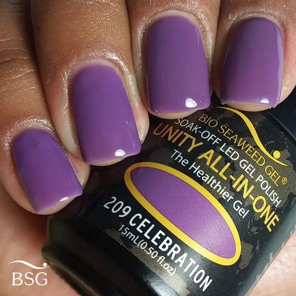 Bio Seaweed Gel - Celebration #209 - dark lavender purple