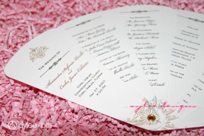 15 Lovely Free Printable Wedding Program Templates | visit www.freetemplateideas.com