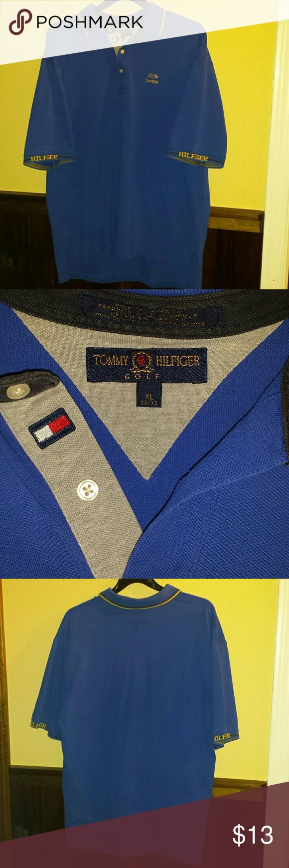 Tommy Hilfiger golf polo Good condition Tommy Hilfiger hapuna golf polo. No stains, holes, or stretches. Unique piece with intricate details such as Hilfiger on the ends of the sleeves and the Tommy logo near the collar Tommy Hilfiger Shirts Polos