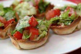 Souffle Bombay: Salad Cups - great idea!