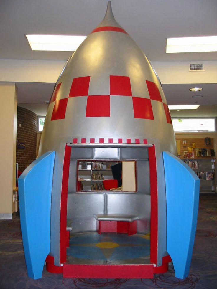S. Walter Stewart Branch - Kids Stop -  children's department. The S. Walter Stewart Branch KidsStop is Toronto Public Library's first. Ludzer Vandermolen took Phillip Carter's designs and created the delightfully surprising KidsStop gateway and its irresistible rocket.