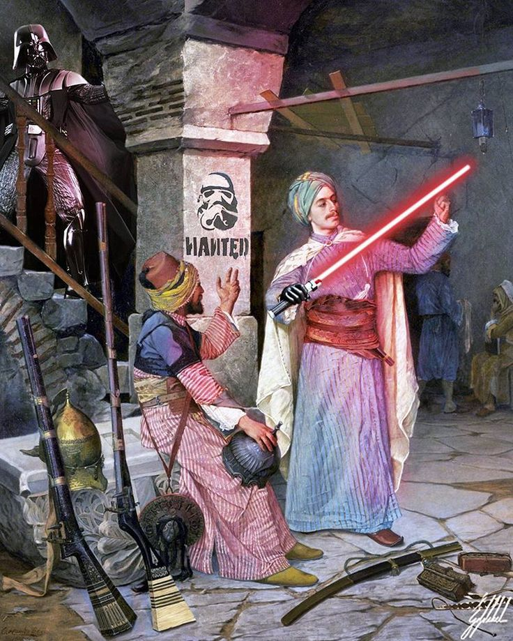 #painting #osmanhamdibey #ottoman #starwars #darthvader #art #artwork #photomanipulation    What If Ottomans were from the Star Wars Universe?    Arms dealer painting by Osman Hamdi Bey in 1908.