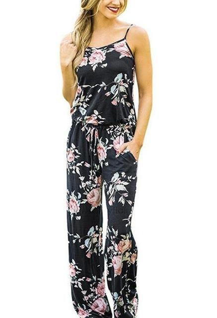bac6a3b43fd romper women 2018 womens jumpsuit Print Spaghetti Strap sexy jumpsuit  rompers plus size summer jumpsuit bodycon jumpsuit rompers