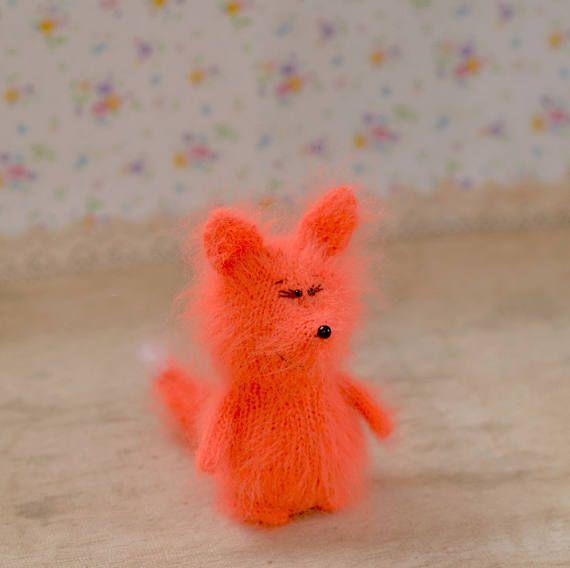 Orange knitted fox Cute Miniature fox Amigurumi Animal foxes