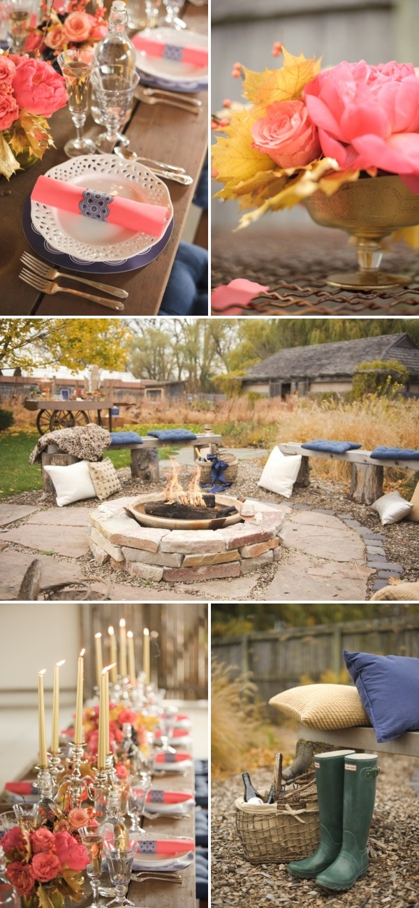 Gorgeous engagement party idea for a large family home in the bush or a picnic