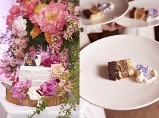 Hamish Blake Snickers wedding cake with Wall-E  cute cake toppers